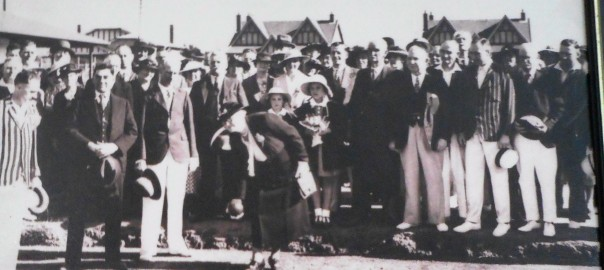 November 21st 1936 The official opening of The Trinity Gardens Bowling Club