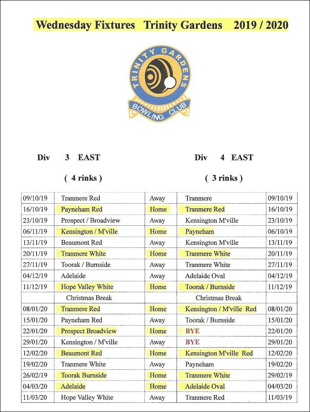 fixtures wed div 4 east
